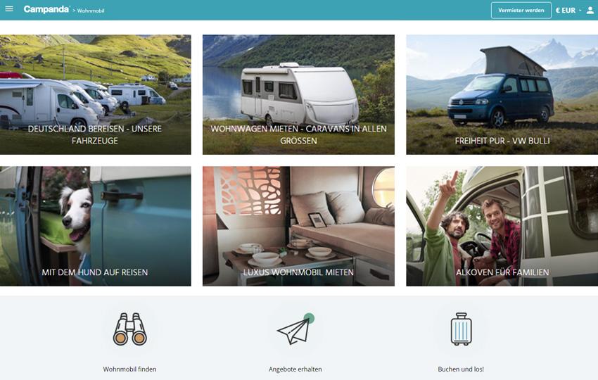 Campanda: Jetzt Wohnwagen & Wohnmobil günstig mieten