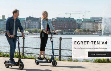 Egret-Ten V4 e-Scooter mit Straßenzulassung - Daten, Features, Preis