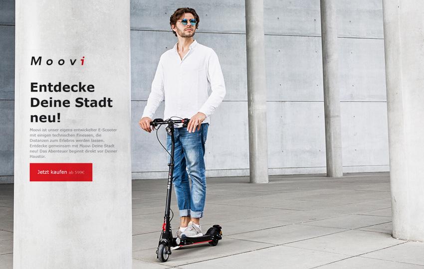 Moovi StVO e-Scooter Pro mit Strassenzulassung