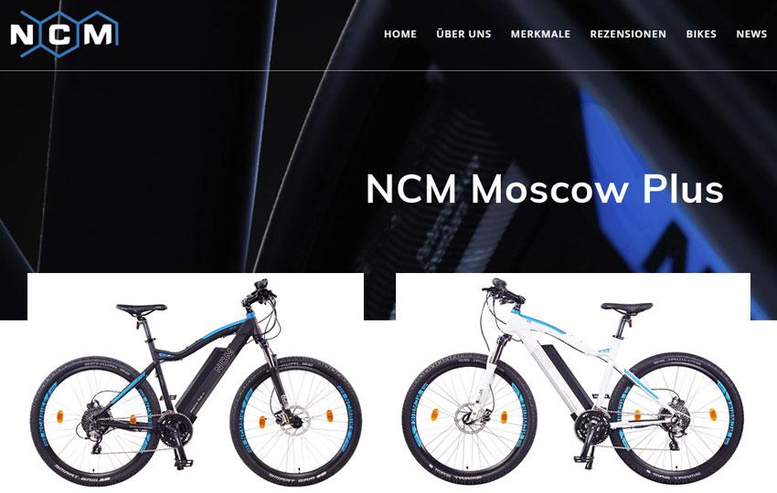 NCM Moscow Plus e-Mountainbike - Daten, Features, Preis