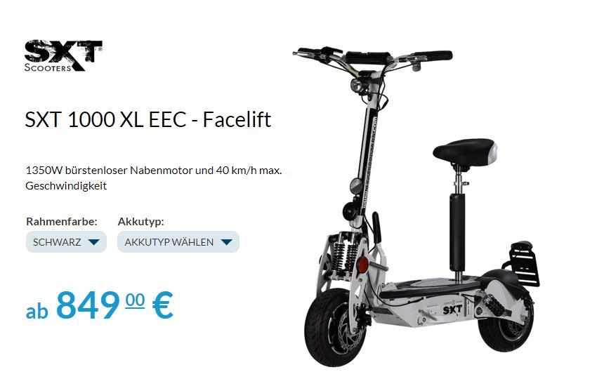 SXT1000 XL EEC Facelift Elektro Roller