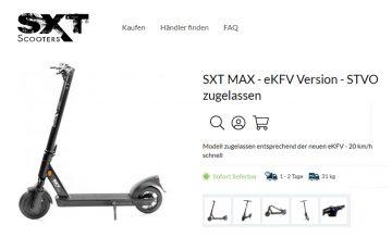 escooters-sxt-max-mit strassenzulassung