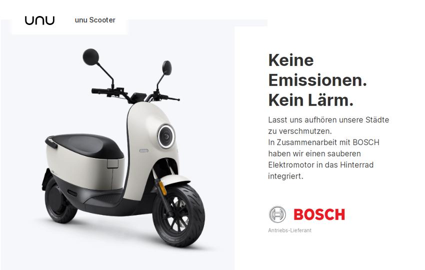 unu Scooter – Der neue Elektro Roller
